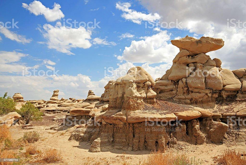 Bisti Badlands stock photo
