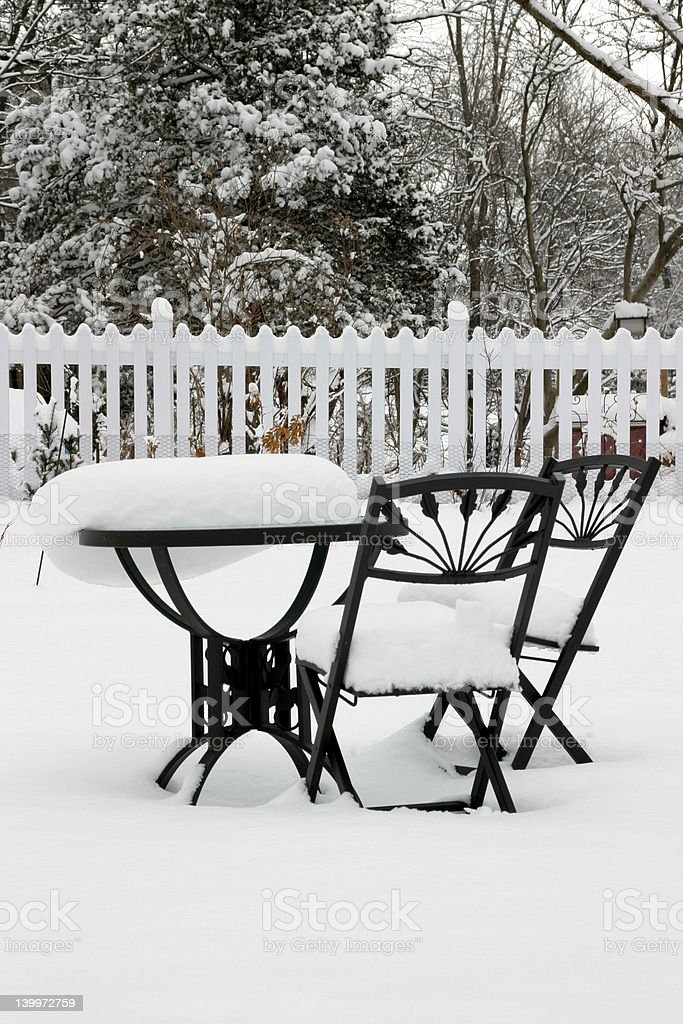 Bistro Set at Rest stock photo