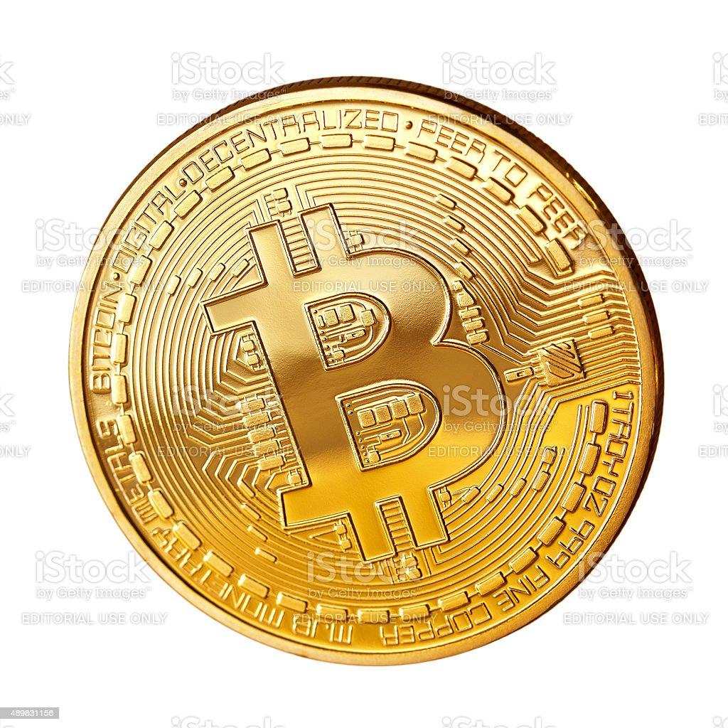 Bitcoin coin stock photo