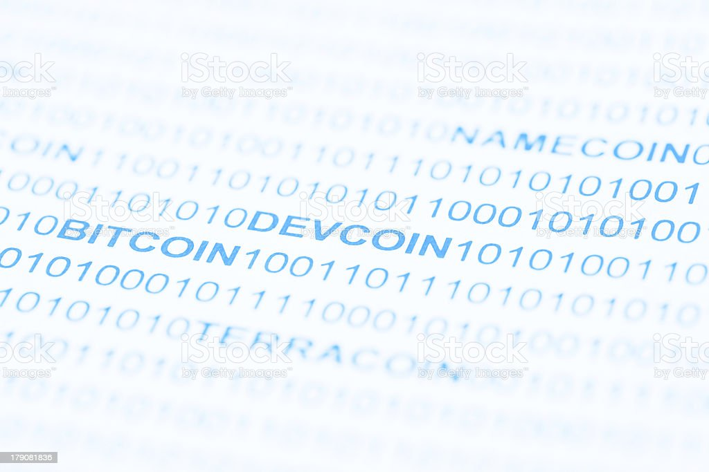 Bitcoin Devcoin Payment Systems royalty-free stock photo
