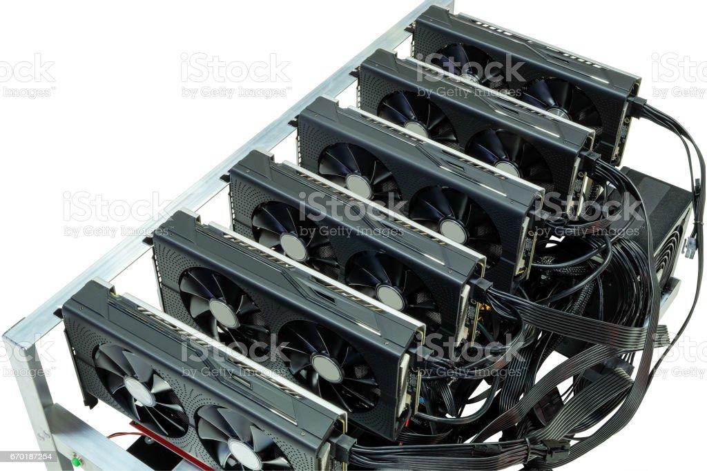 Bitcoin mining stock photo