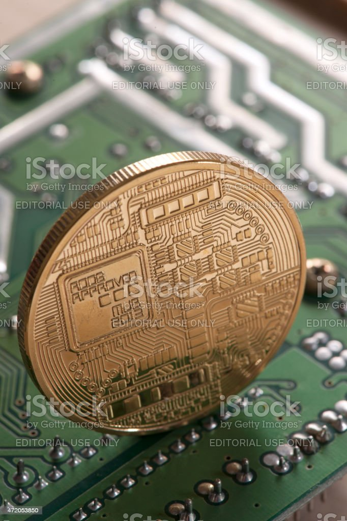 Bitcoin virtual currency stock photo