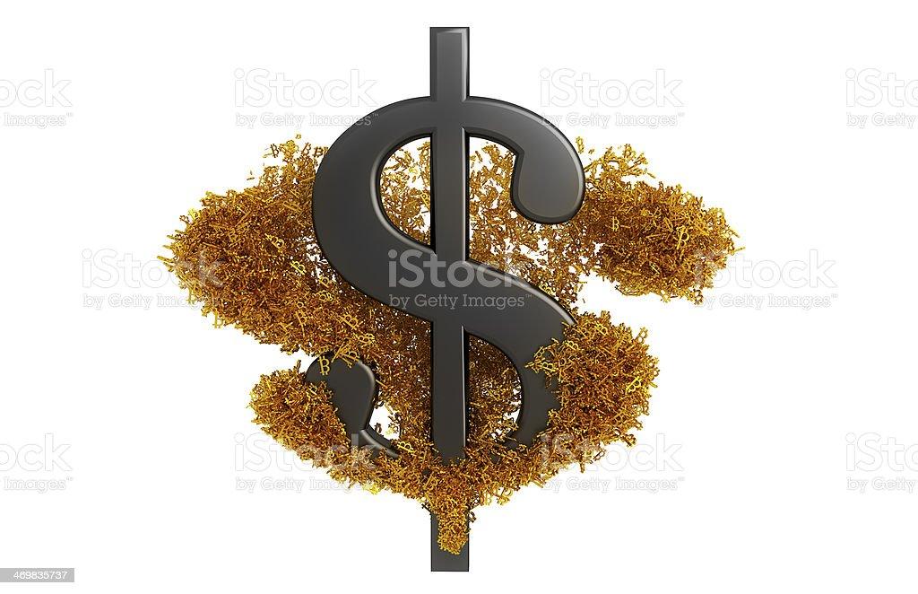 Bitcoin Wave royalty-free stock photo