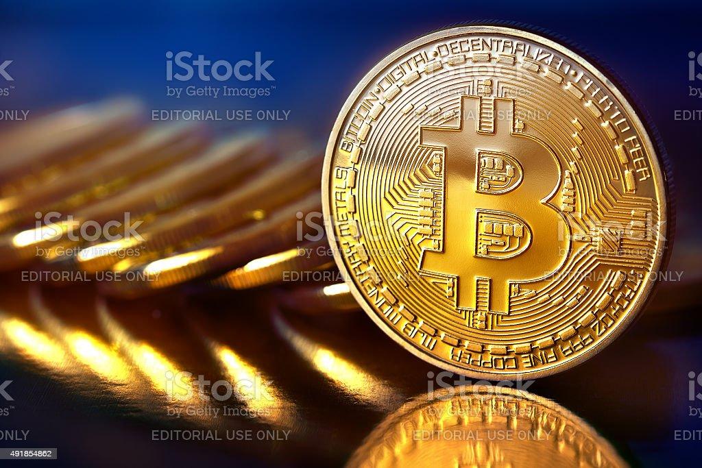Bitcoins stock photo