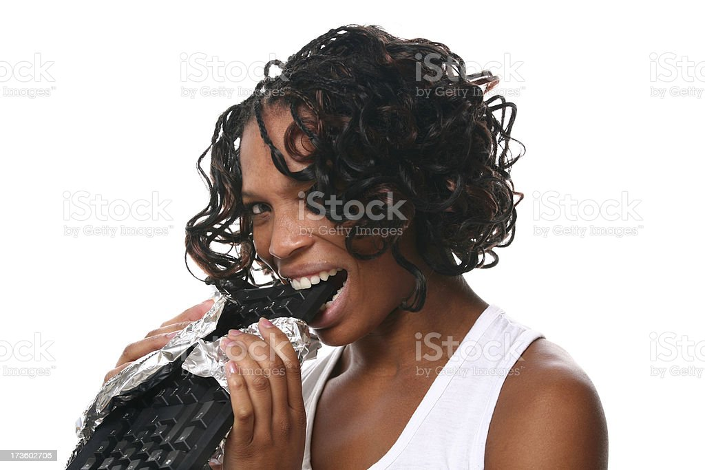 Bite in Information Technology royalty-free stock photo