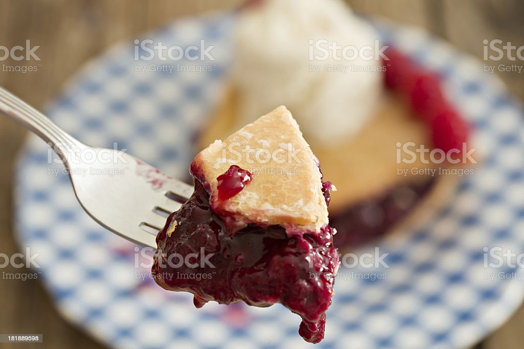 Bite Of Berry Pie royalty-free stock photo