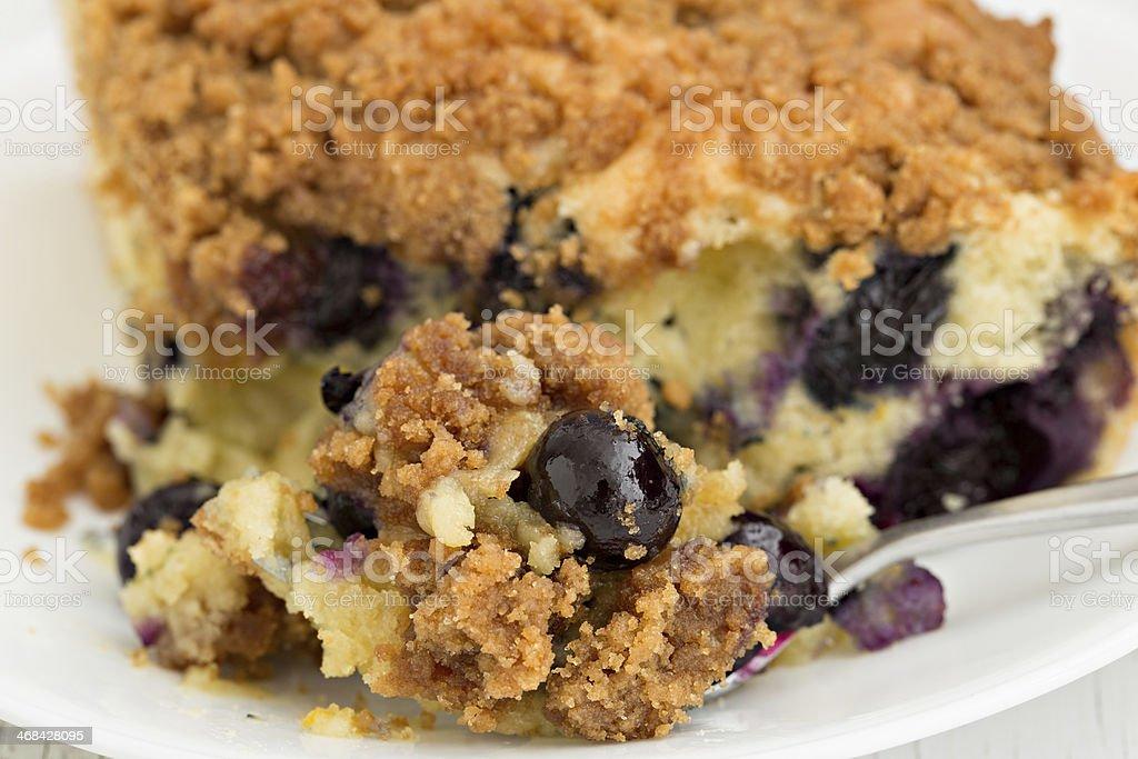 Bite Of Blueberry Cake royalty-free stock photo