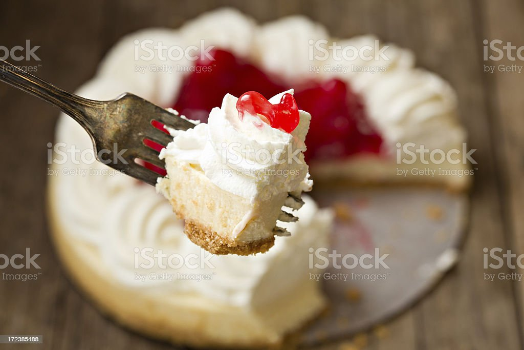 Bite Of Cheesecake royalty-free stock photo
