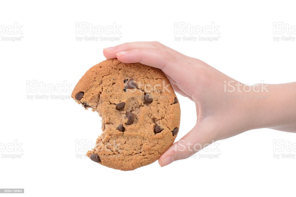 Bite of Cookie stock photo