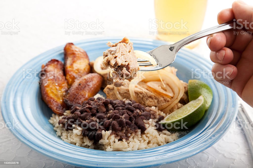 Bite of Cuban Roast Pork royalty-free stock photo