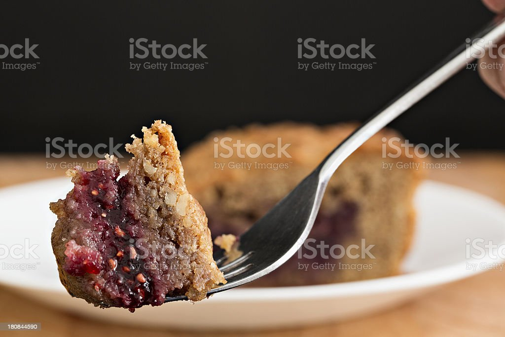 Bite Of Linzer Torte stock photo