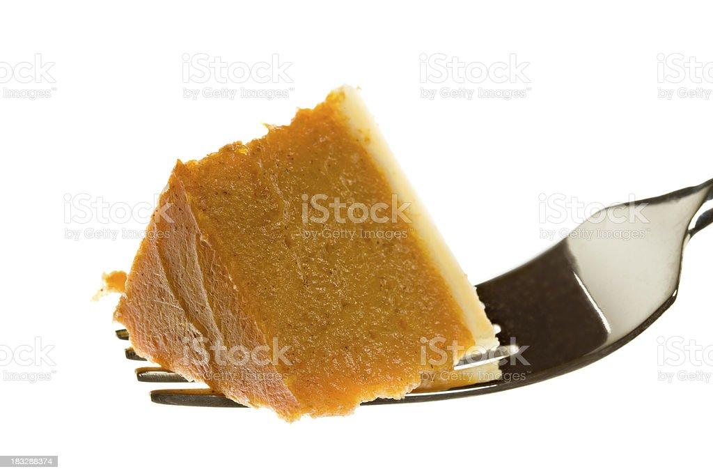 Bite Of Pumpkin Pie royalty-free stock photo