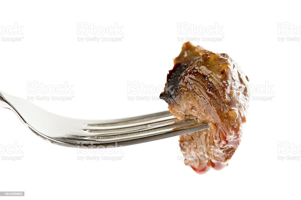 Bite Of Steak stock photo