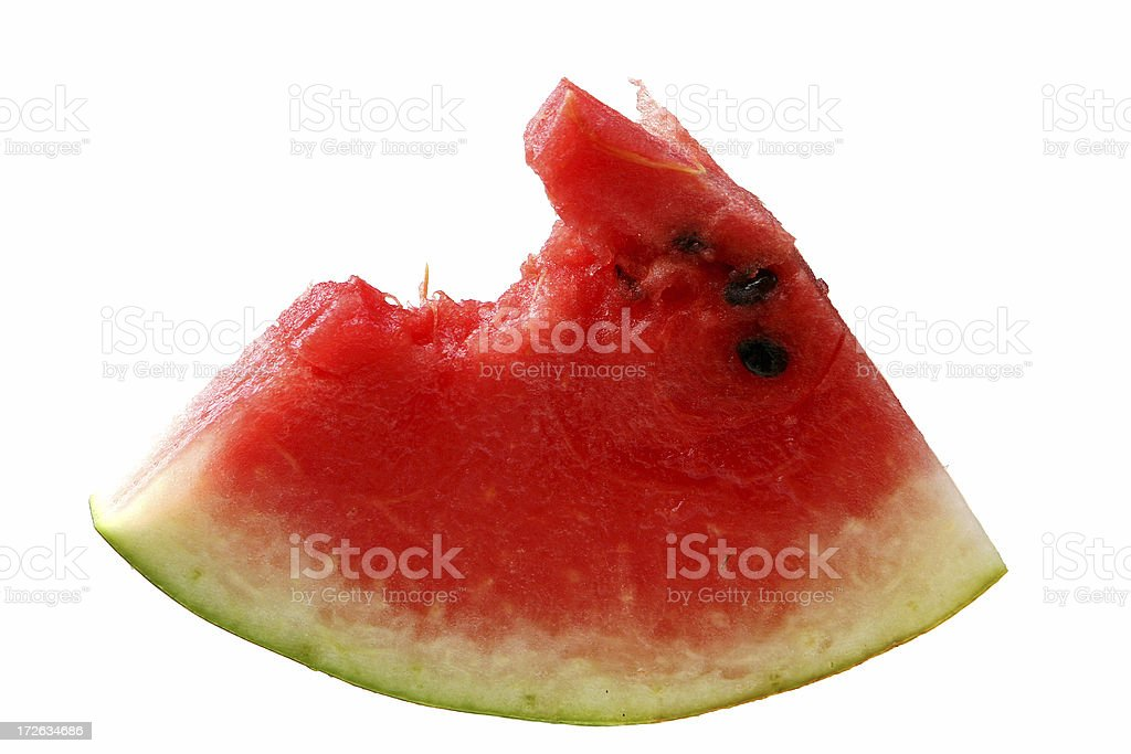 Bite out of Watermelon royalty-free stock photo
