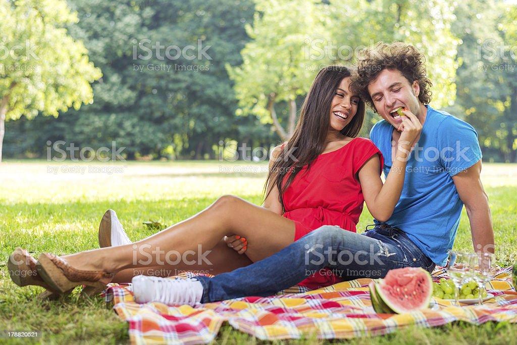 Bite the love royalty-free stock photo