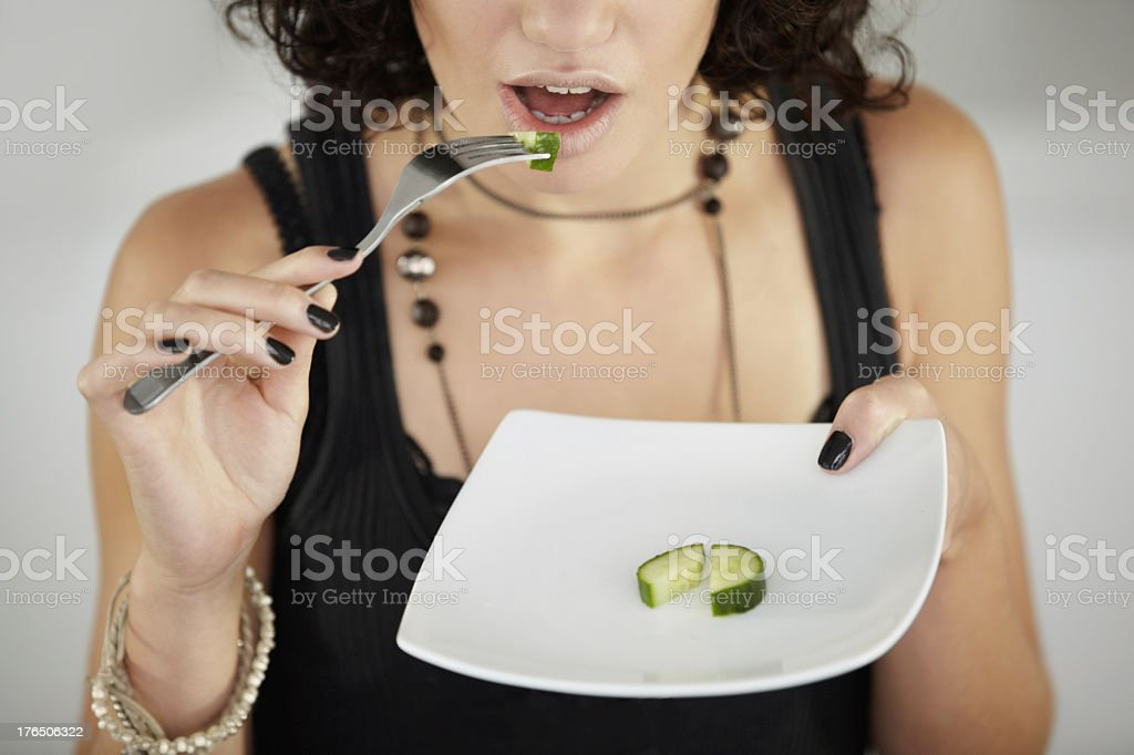 Bite-sized meals - Anorexia stock photo