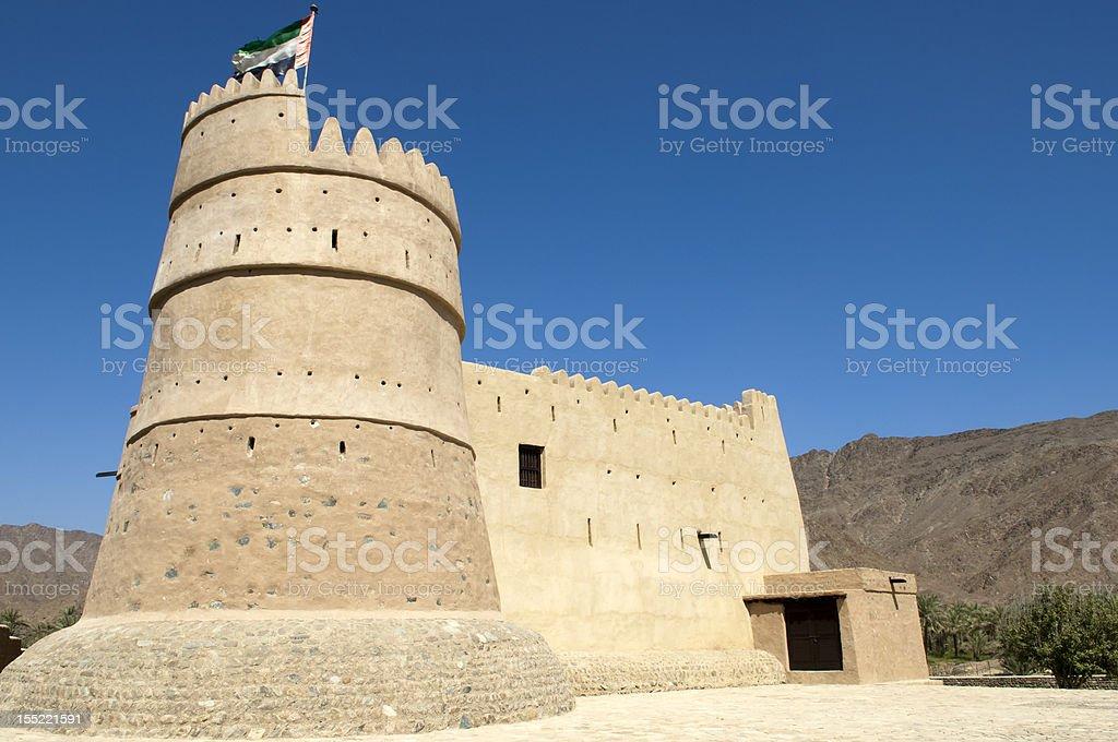 Bithnah Fort in Fujairah United Arab Emirates stock photo