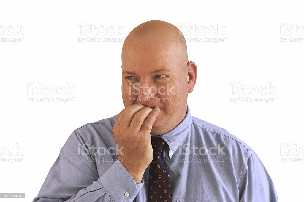 Biting His Nails royalty-free stock photo