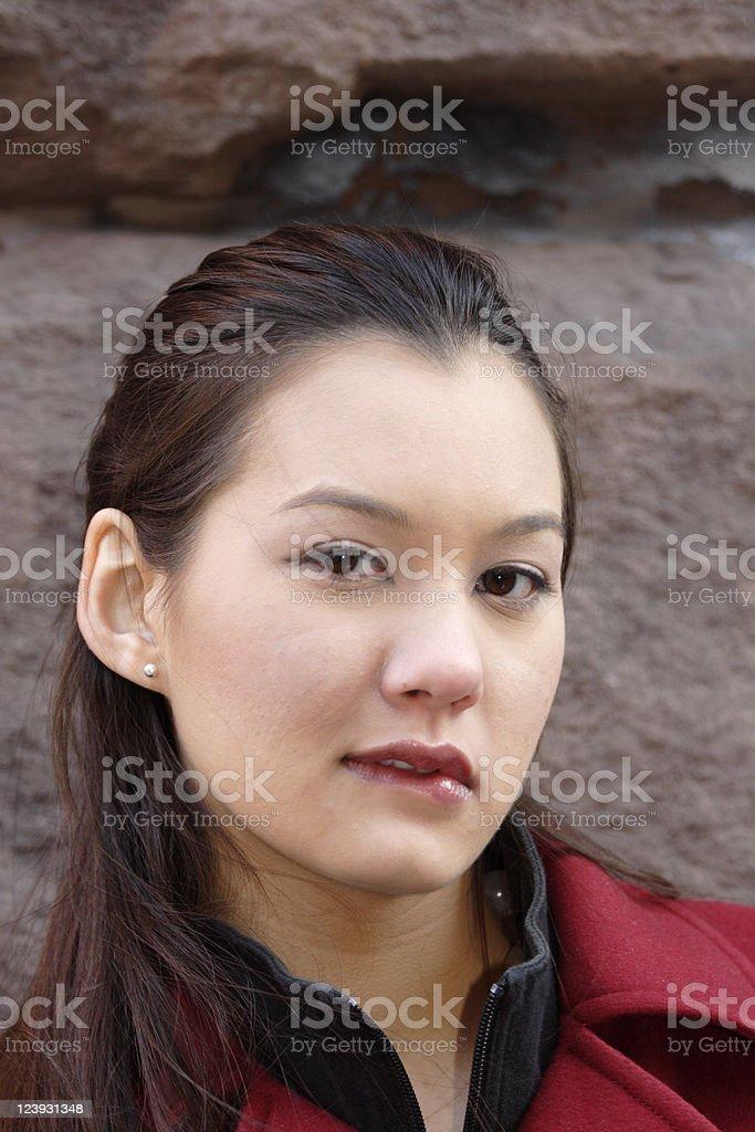 Biting Lip royalty-free stock photo