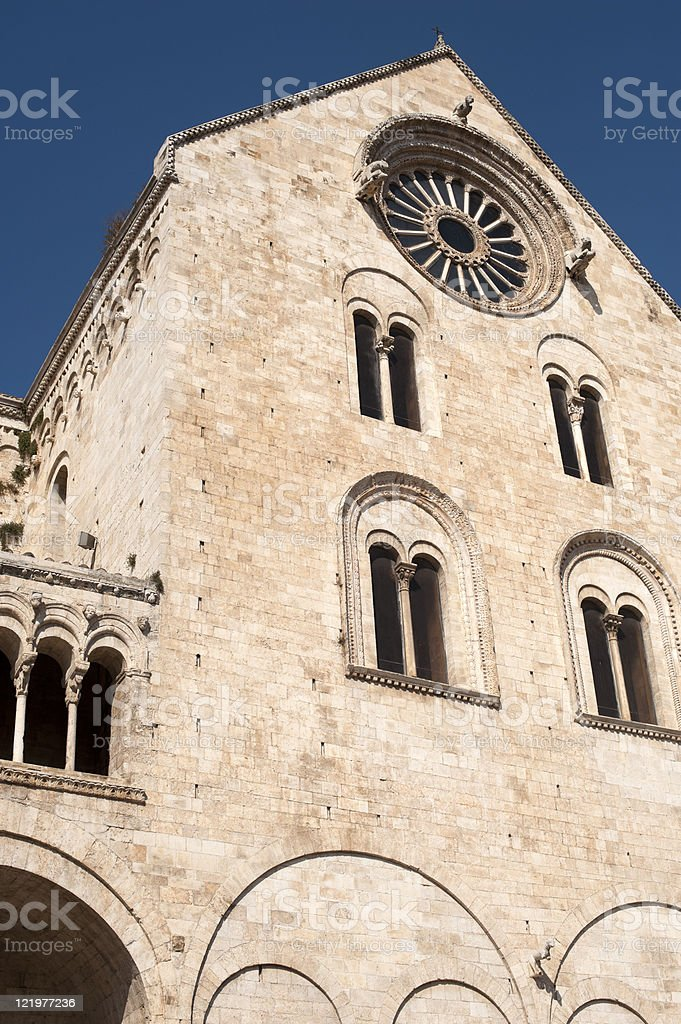 Bitonto (Bari, Puglia, Italy) - Old cathedral in Romanesque style royalty-free stock photo