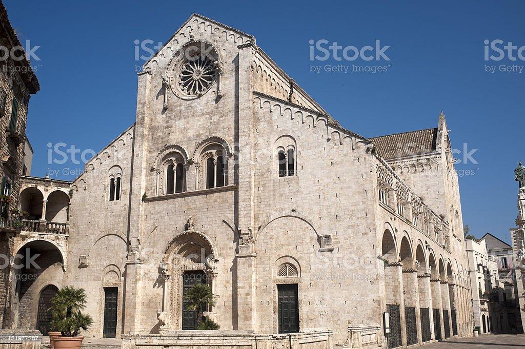 Bitonto (Bari, Puglia, Italy) - Old cathedral in Romanesque style stock photo