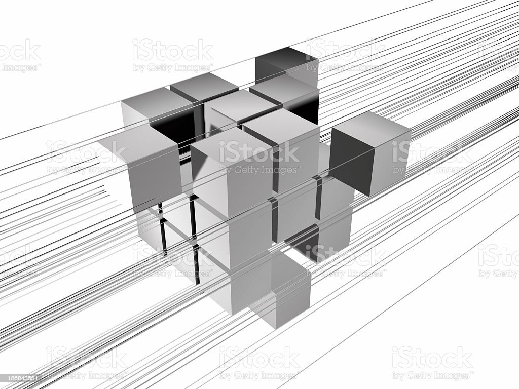 16 Bit-Quads stock photo