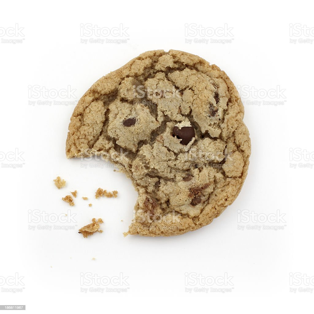 Bitten Chocolate Chip Cookie royalty-free stock photo