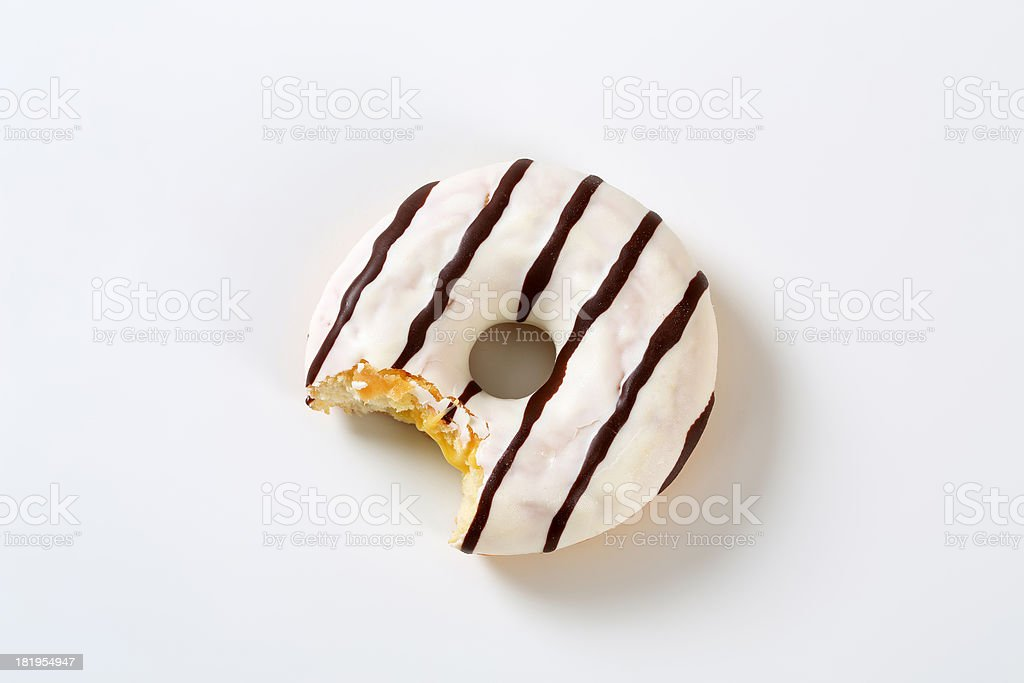 bitten donut stock photo
