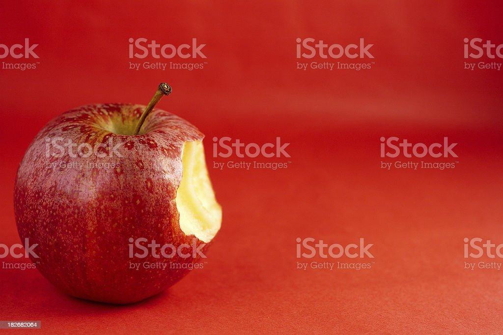 Bitten red apple royalty-free stock photo