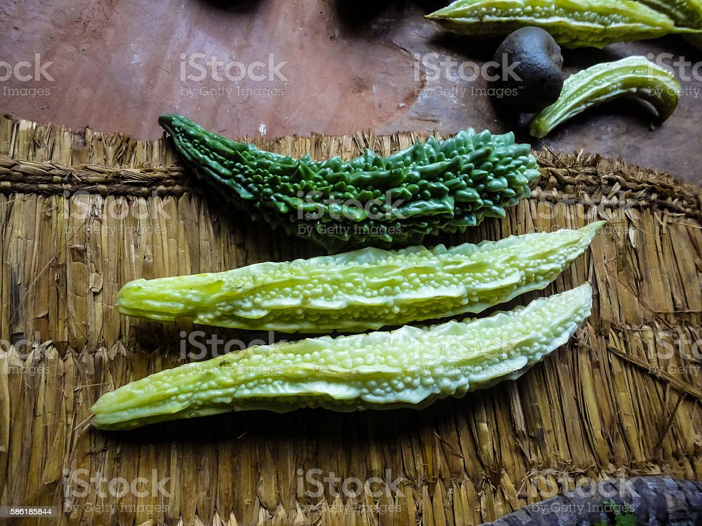 Bitter gourd stock photo