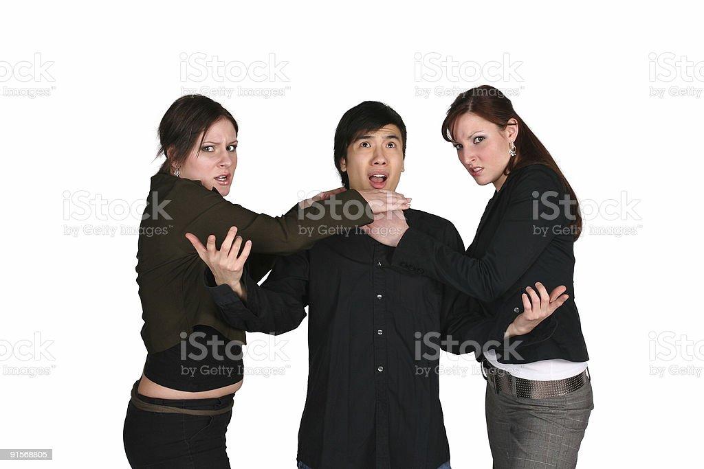 Bitter Love Triangle stock photo
