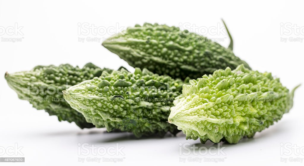 Bitter melon, food and herbal medicine stock photo