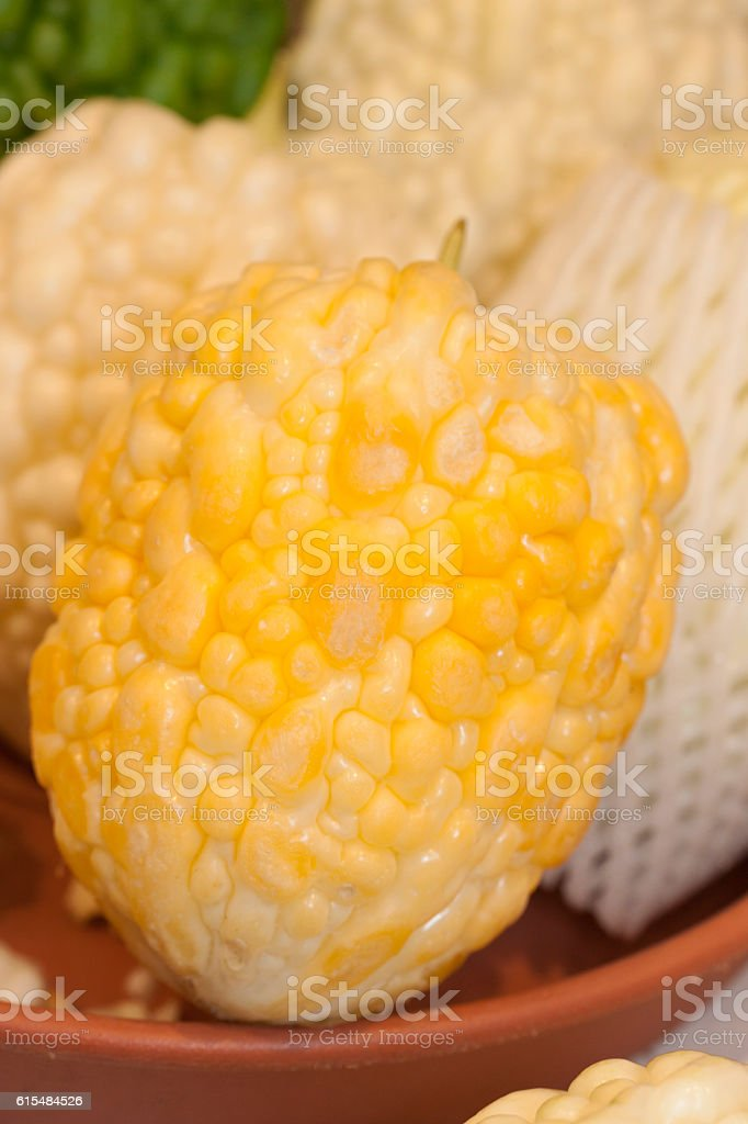 Bitter melon fruit stock photo