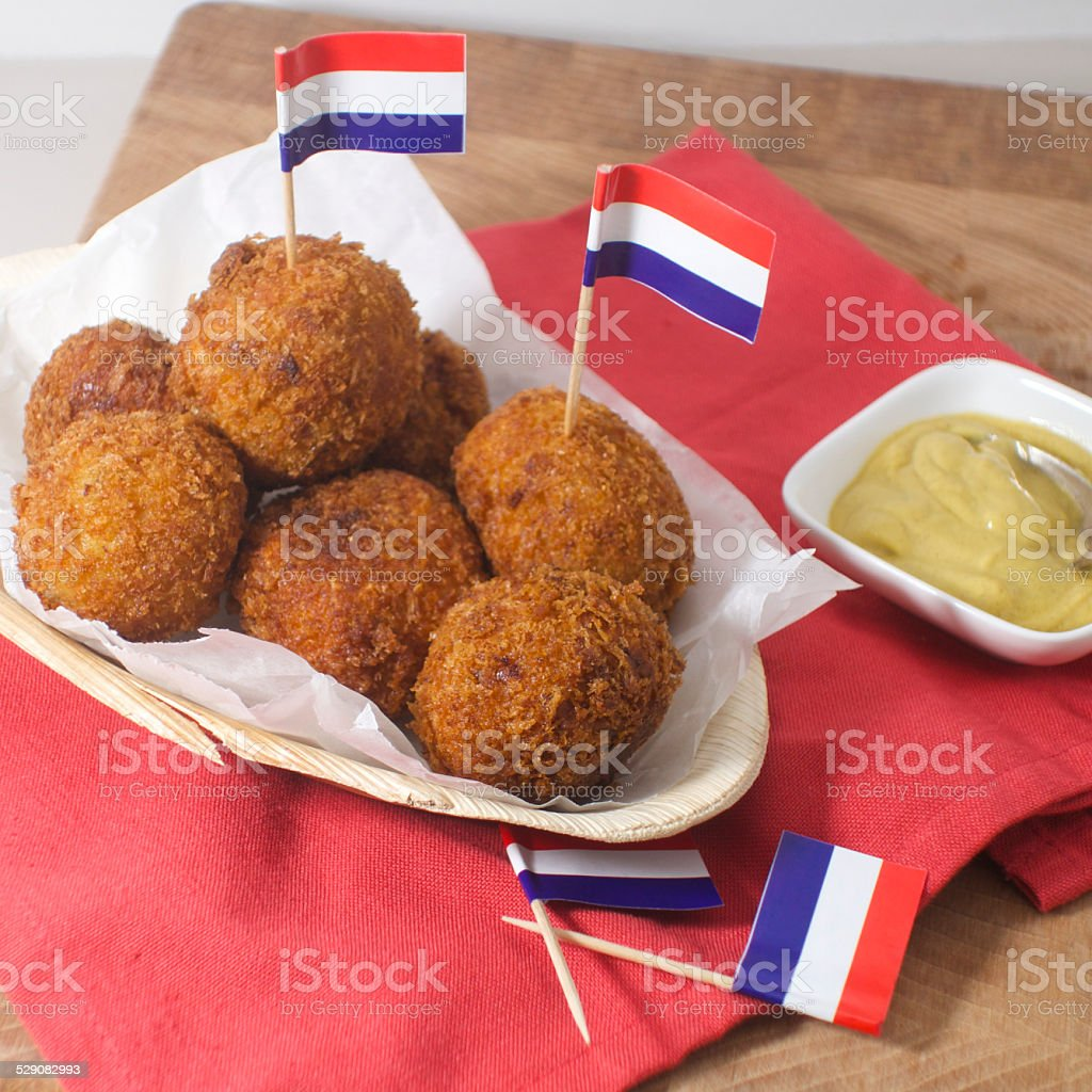 Bitterballen stock photo