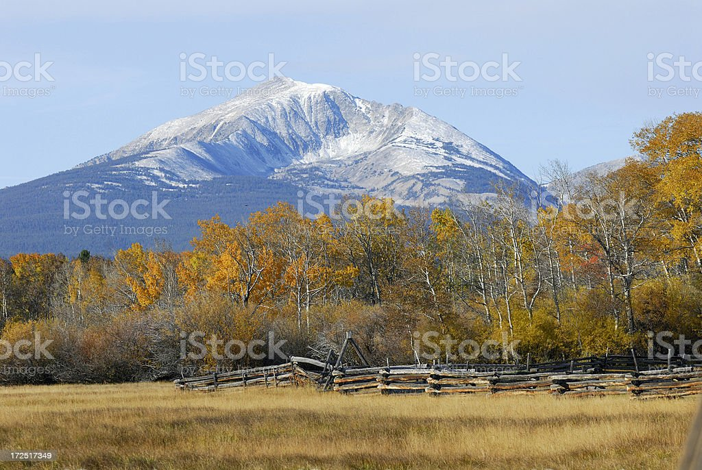 Bitterroot Mountains royalty-free stock photo