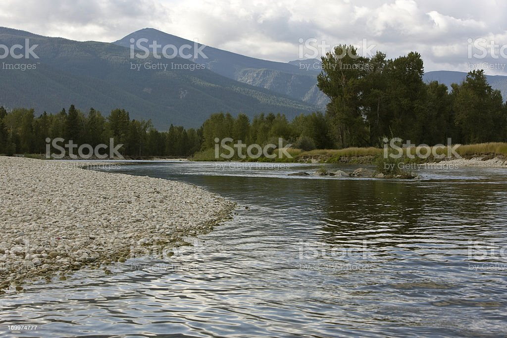 Bitterroot River - Montana royalty-free stock photo
