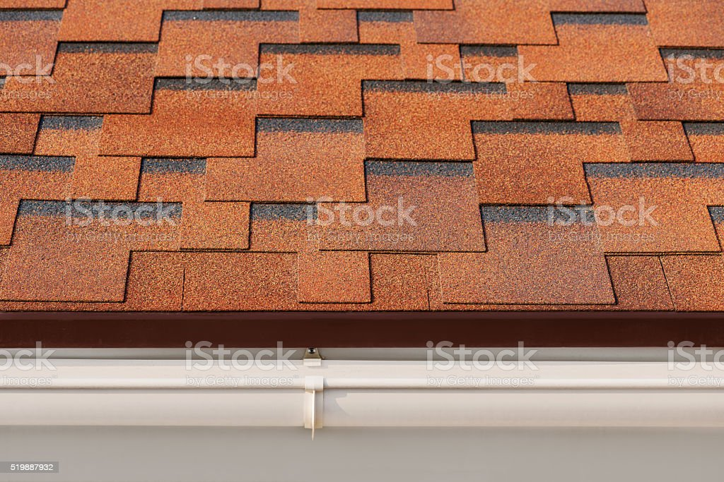 Bitumen asphalt shingles. stock photo