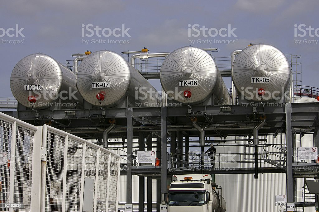 Bitumen filling station royalty-free stock photo