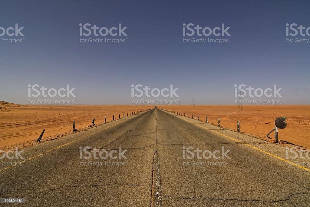 Bitumenized Road stock photo