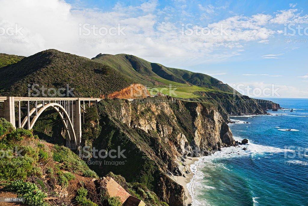 Bixby Bridge at Big Sur California stock photo