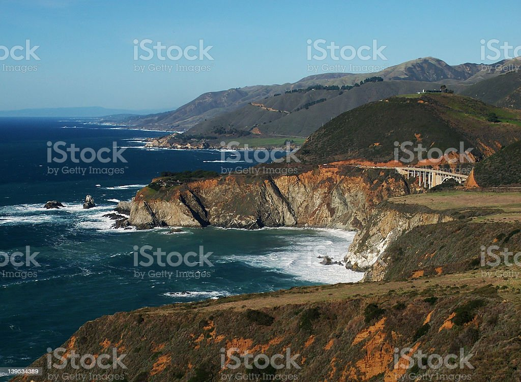 Bixby Bridge, Big Sur, CA royalty-free stock photo