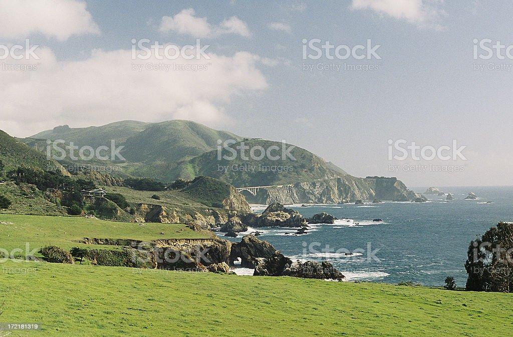 Bixby bridge, Big Sur California coastal scenic stock photo