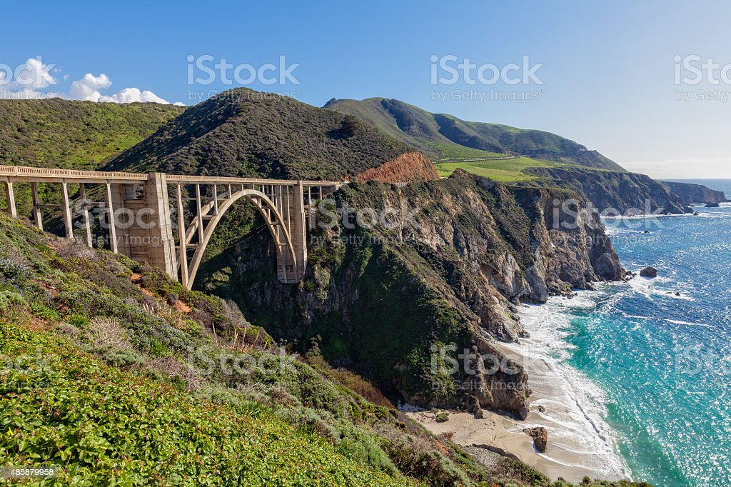 Bixby Bridge Big Sur California stock photo