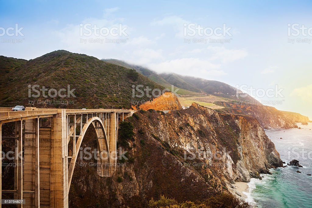 Bixby Bridge, Big Sur California stock photo