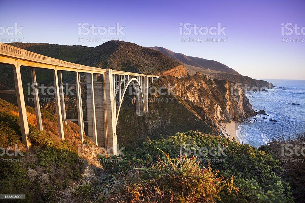 Bixby Bridge, Big Sur, California, USA stock photo