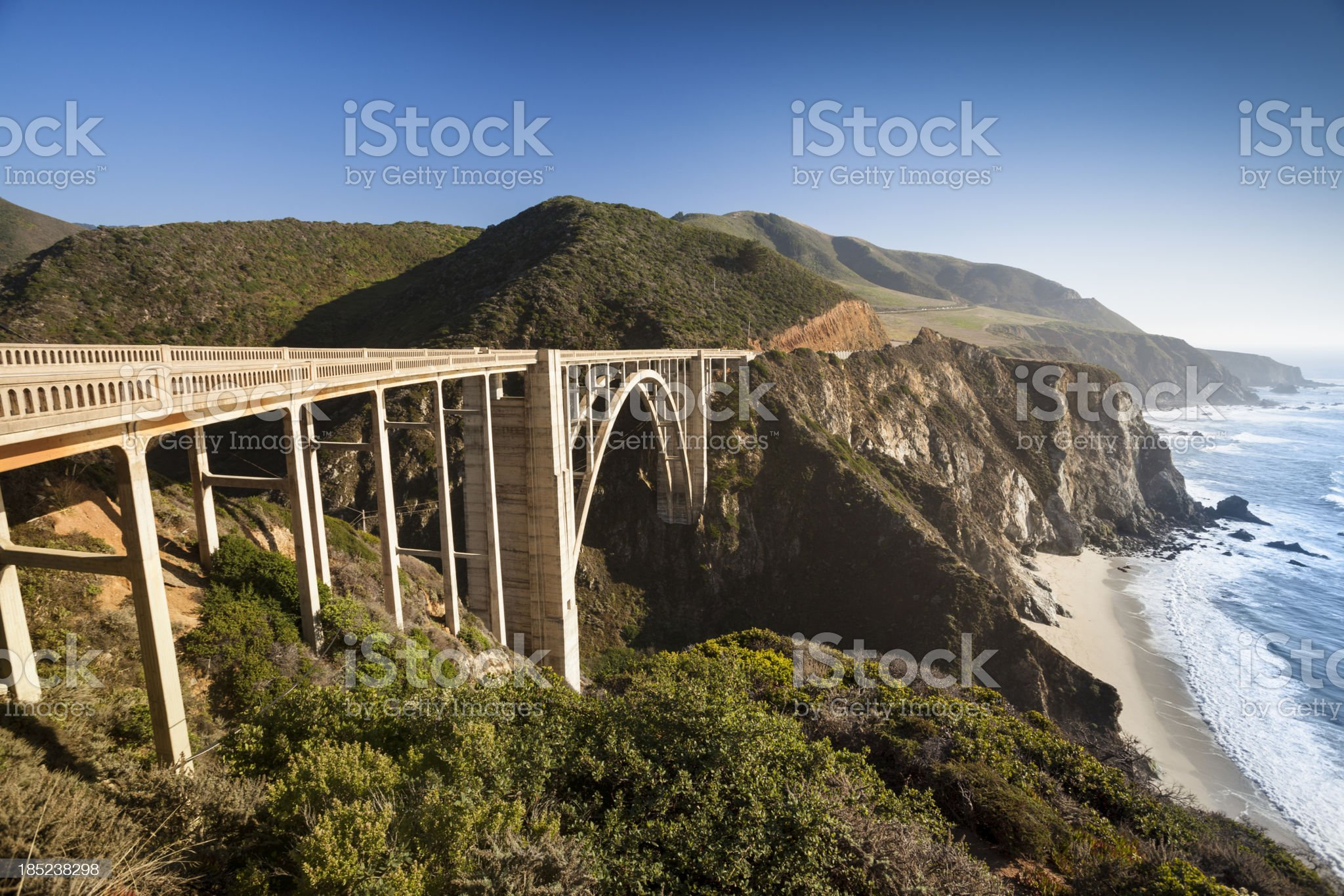 Bixby Bridge, Big Sur, California, USA royalty-free stock photo