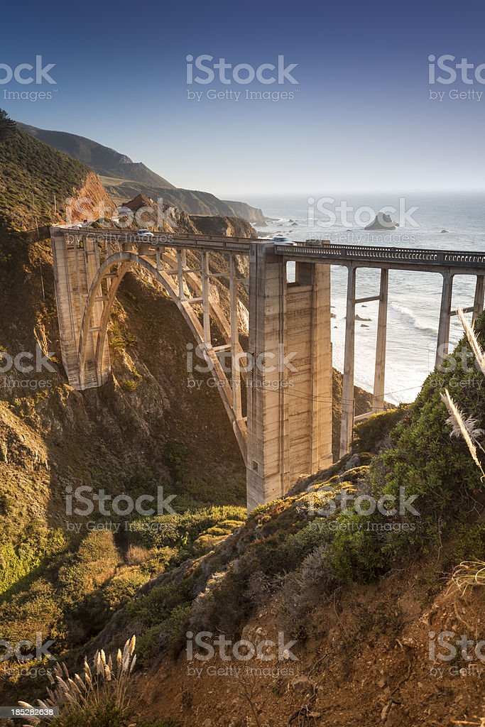 Bixby Bridge, Big Sur, California, USA stock photo