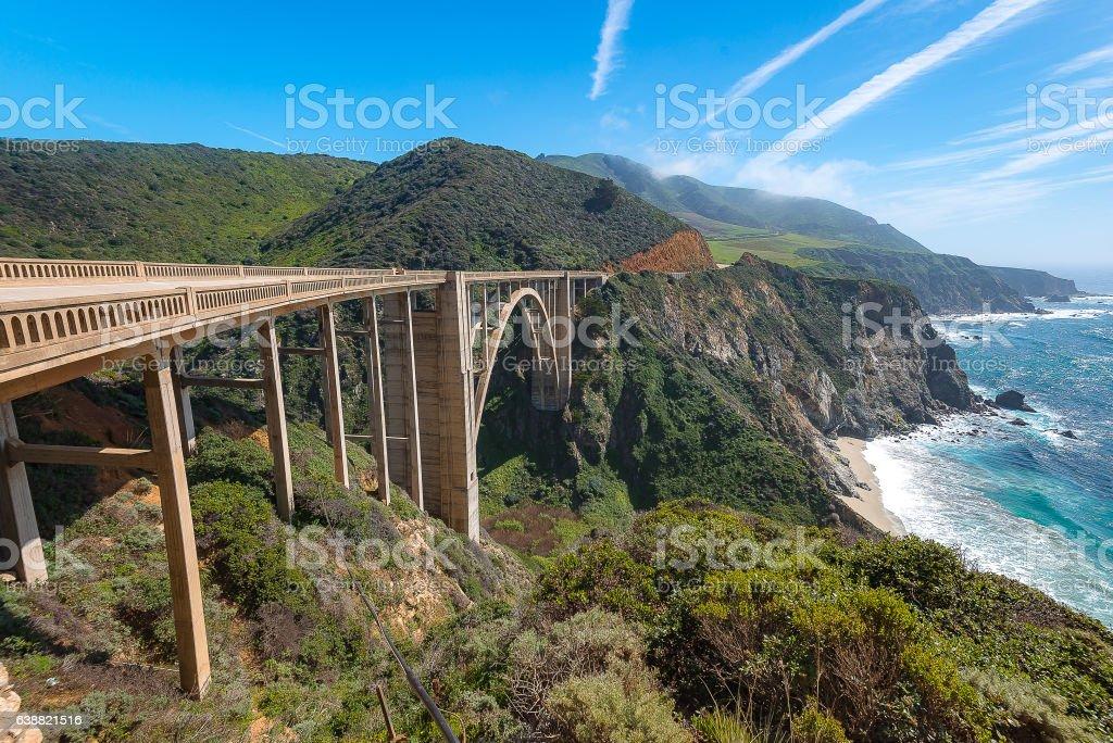 Bixby Bridge, Big Sur Caliofornia stock photo