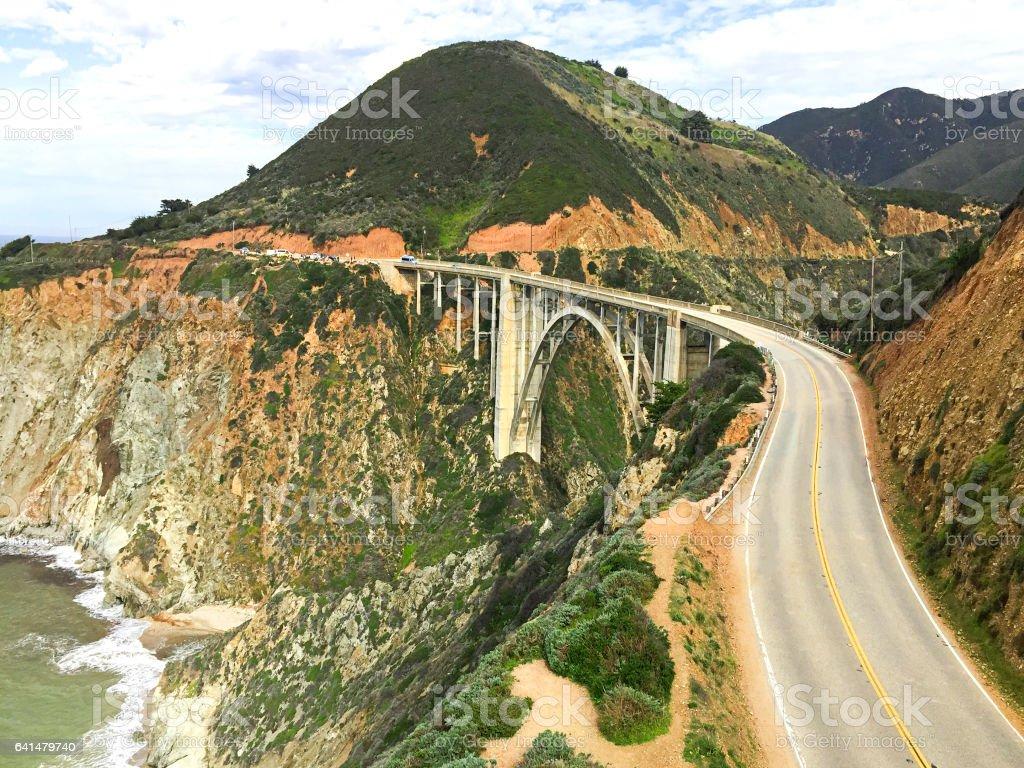 Bixby Bridge, Big Sur, Highway 1 stock photo