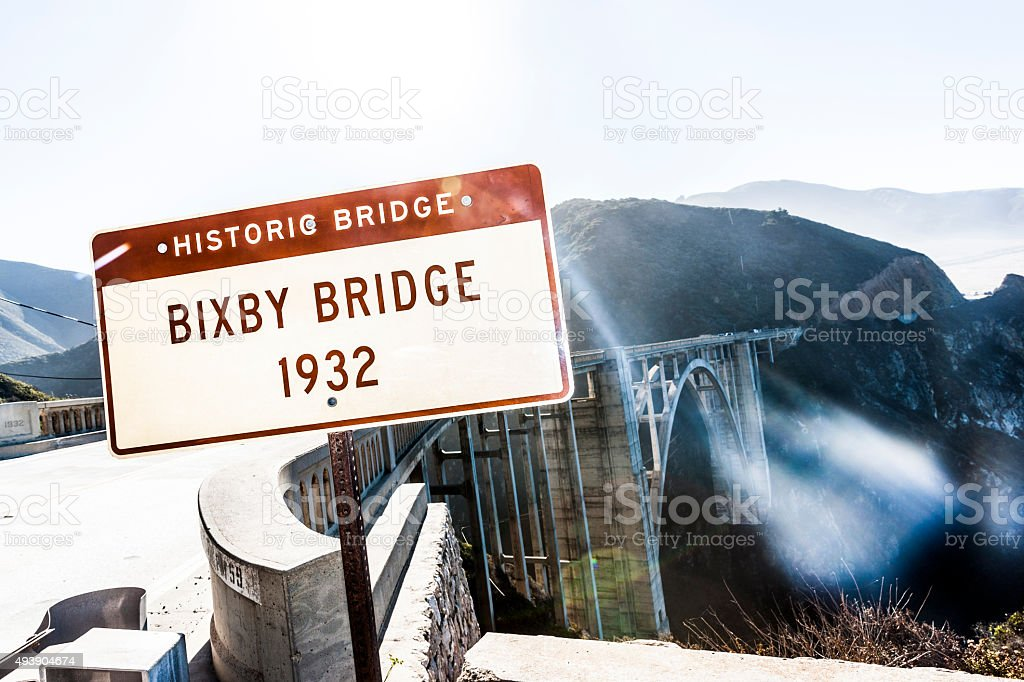 Bixby Bridge, California stock photo